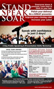 Poster for Public Speaking Seminar
